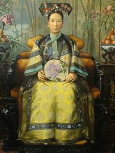 Oil painting of Express Dowager Cixi by Hubert Vos, 1906.