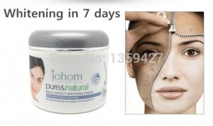 "Chinese Beauty Advertisement for Johom ""Pure and Natural"" skin whitening cream."