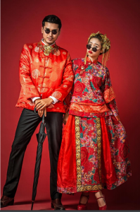 Chinese Couple at Contemporary Bridal Portrait Photoshoot