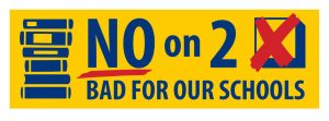 No on 2 sign