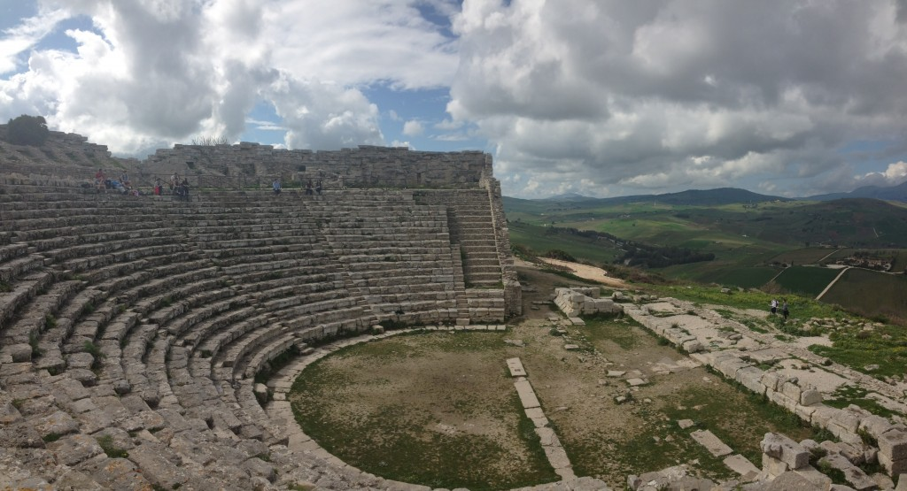 The Roman theater in Segesta