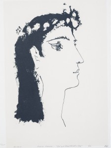 PABLO PICASSO (Spanish, 1881–1973) - Head of a Girl, ca. 1955