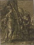 CHRISTOFFEL VAN SICHEM, THE ELDER (Dutch, 1546–1624) Judith with the Head of Holofernes, 1630 - chiaroscuro woodcut