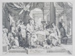GERARD DE LAIRESSE - Banquet of Cleopatra, 1670 - etching on paper