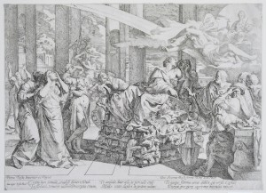 GIOVANNI CESARE TESTA (Italian, 1630/1640–1655) - Dido on the Funeral Pyre, ca. 1655 - etching