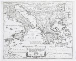 WENCESLAUS HOLLAR (Bohemian, 1607–1677) Map of the Voyages of Aeneas, ca. 1650 - engraving