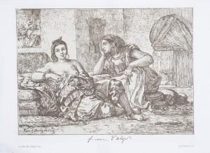 EUGÈNE DELACROIX (French, 1798–1863) - Femme d'Algiers, ca. 1840