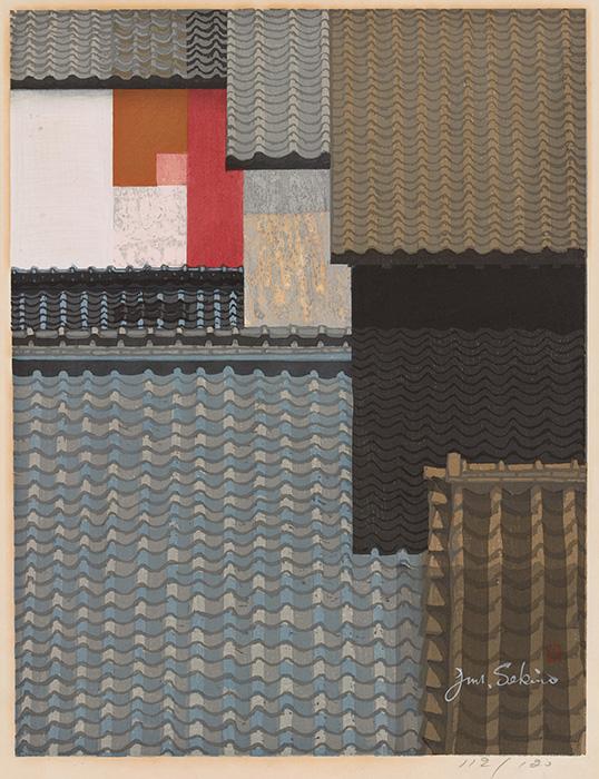 Jun'ichirō Sekino 準一郎關野 Japanese, 1914–1988 Rooftops of Nagoya, 1963 Woodblock Gift of D. Lee Rich, P'78 '80 and John Hubbard Rich, Jr., Class of 1939 Litt.D. 1974, P'78 '80 2010.10.16