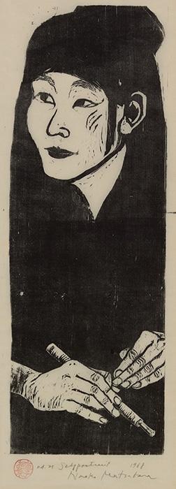 Naoko Matsubara 直子松原 Japanese, born 1937 Self-Portrait, 1968 woodblock on paper Gift of D. Lee Rich, P'78 '80 and John Hubbard Rich, Jr., Class of 1939 Litt.D. 1974, P'78 '80 2010.10.31
