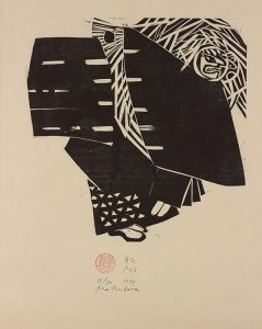 Naoko Matsubara 直子松原 Japanese, born 1937  Noh, 1977 woodblock on paper Gift of Ted and Marcia Marks in memory of Emily Howe Marks 2011.30.11