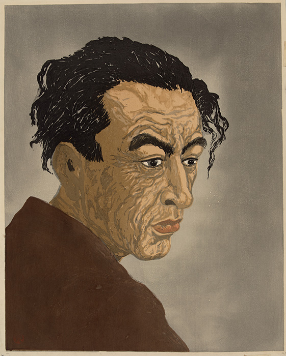 Kōshirō Onchi 孝四郎恩地 Japanese, 1891–1955 Portrait of a Poet; Hagiwara Sakutaro, printed 1959 (by Koichi Hirai using memorial blocks) woodblock Gift of Ted and Marcia Marks in memory of Emily Howe Marks 2011.30.14