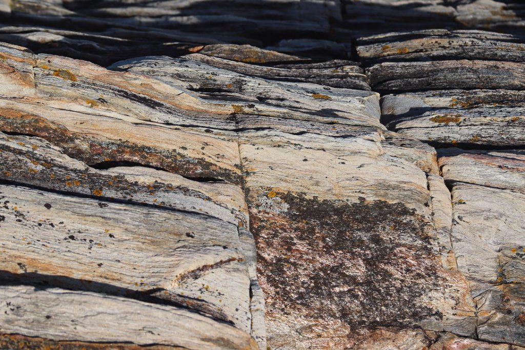 """""""Texture 6"""". Giant Steps, Bailey Island, Maine. Weathered rock structure. Digital photograph. Dimensions variable."""