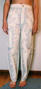 Julio Cesar Palencia - Pants Marker on canvas pants Spring 2020