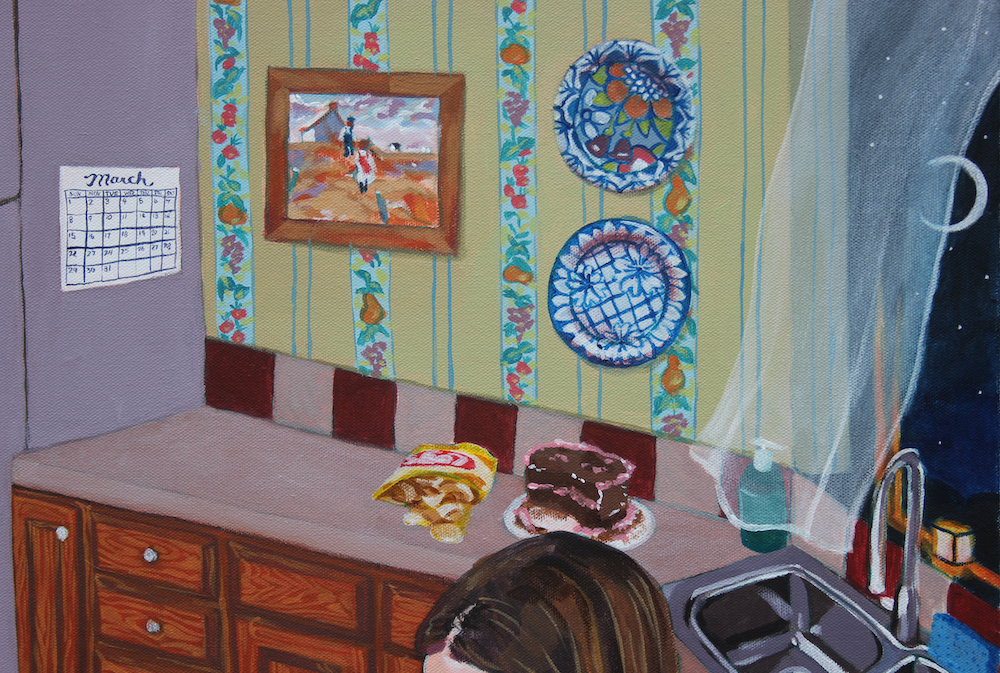 Title: Kitchen (detail) Size: 3 ft x 3 ft Medium: Acrylic on canvas