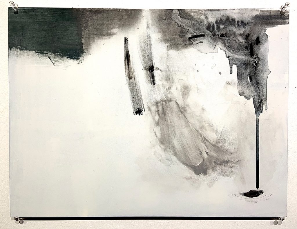 """1. Like This (I), Ink, acrylic, graphite, gesso on hardboard panel, 16"""" x 12"""""""