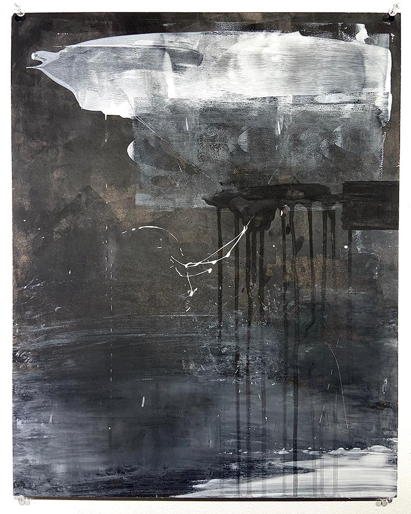 """2. Like This (II), Ink, acrylic, graphite, charcoal on hardboard panel, 16"""" x 20"""""""