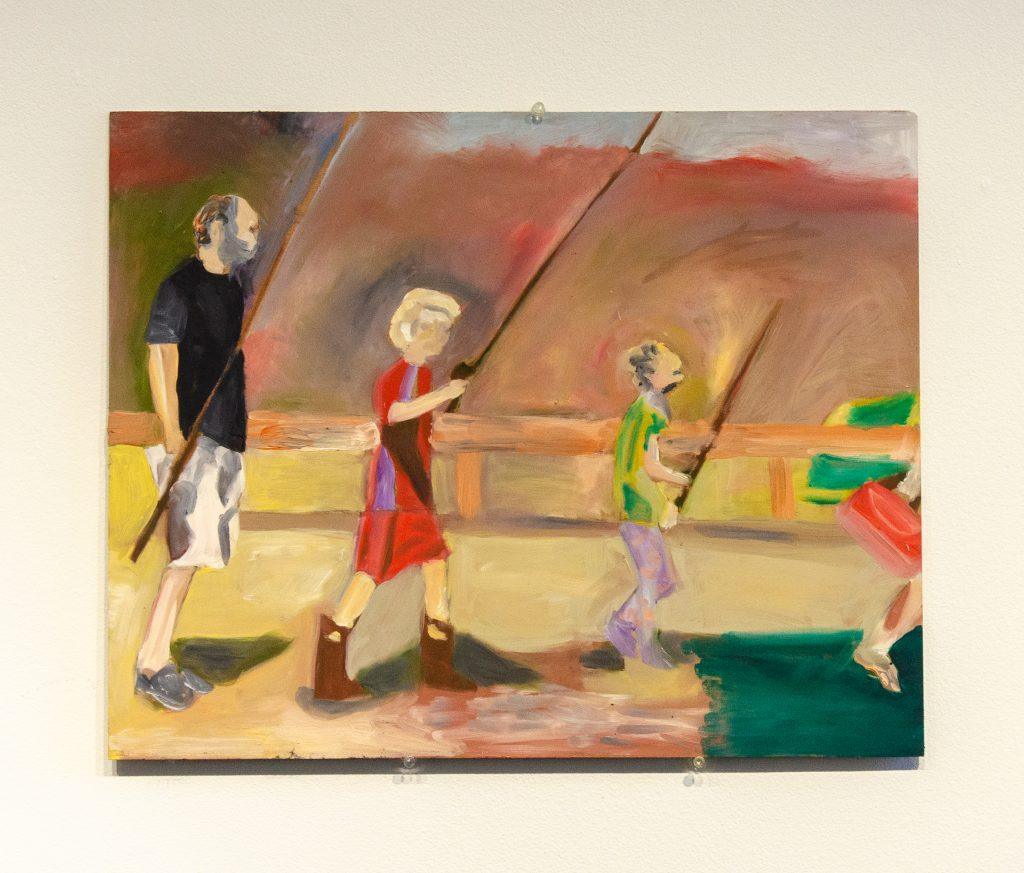 """2. Gone Fishing, Oil on Board, 20 x 16"""", 2021."""