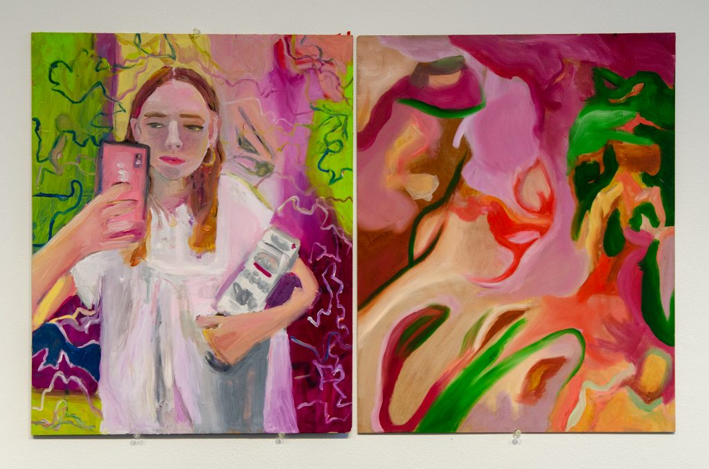 """3. The Neoliberal Self, Oil on Board, 32 x 20"""", 2021."""