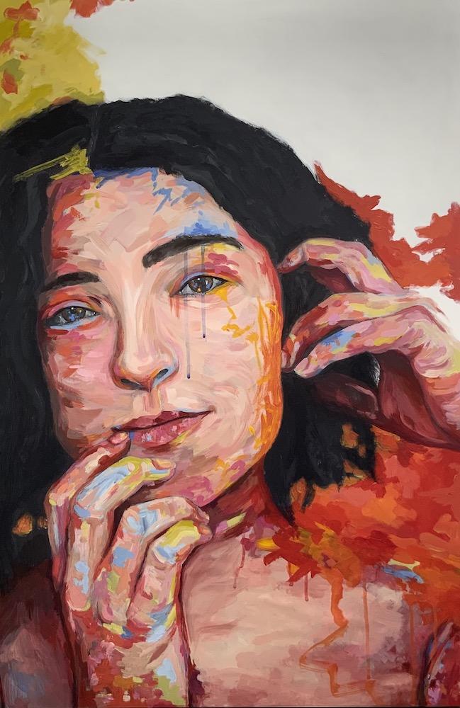 """bianca, acrylic on wood panel, 24x36"""", 2021"""