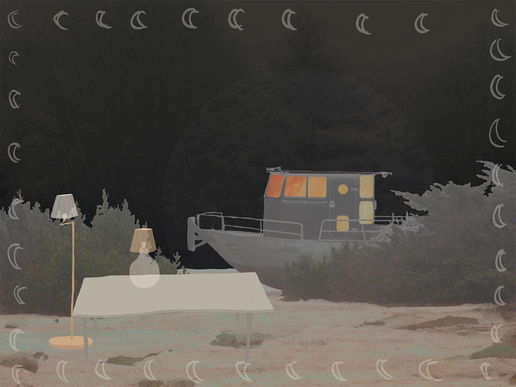 untitled (boat), Digital Media, Dimensions Variable, 2021.